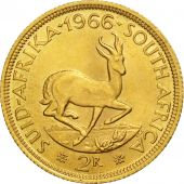 South Africa, 2 Rand, 1966, AU(55-58), Gold, KM:64
