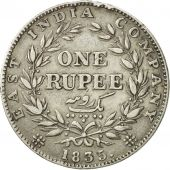 INDIA-BRITISH, Rupee, 1835, Calcutta, TTB, Argent, KM:450.3