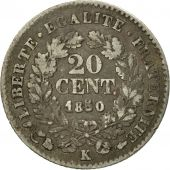 France, Cérès, 20 Centimes, 1850, Bordeaux, VF(20-25), Silver, KM:758.3