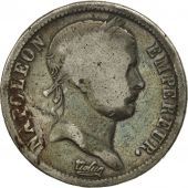 France, Napoléon I, 2 Francs, 1814, Paris, F(12-15), Silver, KM:693.1