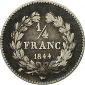 France, Louis-Philippe, 1/4 Franc, 1844, Lille, VF(30-35), Silver, KM:740.13