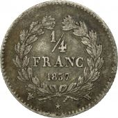 France, Louis-Philippe, 1/4 Franc, 1837, Lille, EF(40-45), Silver, KM:740.13