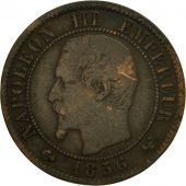 France, Napoleon III, Centime, 1856, Lille, VF(20-25), Bronze,KM 775.7,Gadoury86