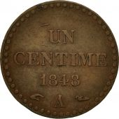 France, Dupré, Centime, 1848, Paris, EF(40-45), Bronze, KM:754, Gadoury:84