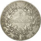 France, Napoléon I, 5 Francs, 1804, Paris, VF(30-35), Silver, KM:660.1