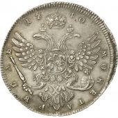 Russie, Anna, Rouble, 1740, Moscow, TTB, Argent, KM:203