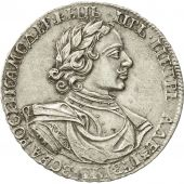 Russia, Peter I, Rouble, 1718, AU(50-53), Silver, KM:157.1