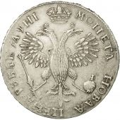 Russie, Peter I, Rouble, 1718, TTB+, Argent, KM:157.1