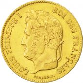 France, Louis-Philippe, 40 Francs, 1836, Paris, MS(60-62), Gold, KM:747.1