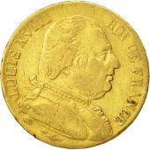 France, Louis XVIII, 20 Francs, 1815, Bordeaux, VF(20-25), Gold, KM 706.3