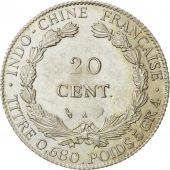 FRENCH INDO-CHINA, 20 Cents, 1924, Paris, SUP, Argent, KM:17.1, Lecompte:224