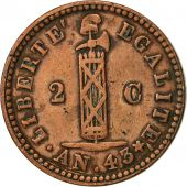 Haiti, 2 Centimes, 1846, EF(40-45), Copper, KM:27.1