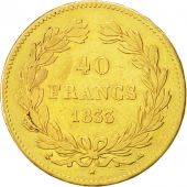 France, Louis-Philippe, 40 Francs, 1833, Paris, TB+, Or, KM:747.1, Gadoury:1106