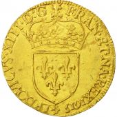 France, Louis XIII, Écu dor, 1615, Paris, AU(50-53), Gold, KM:41.1