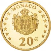 Monaco, 20 Euro, 2002, FDC, Or, Gadoury:MC 182