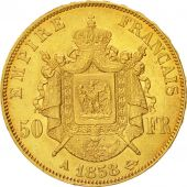 France, Napoléon III, 50 Francs, 1858, Paris, EF(40-45), Gold, KM 785.1