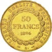 France, Génie, 50 Francs, 1896, Paris, AU(50-53), Gold, KM:831, Gadoury:1113