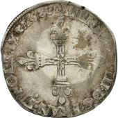 France, Henri III, Quart Ecu, 1586, Paris, VF(30-35), Silver, Sombart:4662