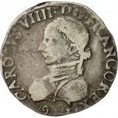 coin, France, Teston, 1575, Rennes, VF(30-35), Silver, Sombart:4602