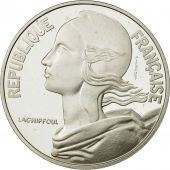 coin, France, 20 Centimes Piéfort, 1988, MS(65-70), Silver, Gadoury:56.P2