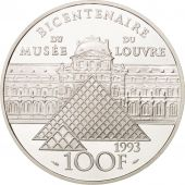 France, 100 Francs, 1993, Infante, Argent, Proof, KM:1021