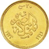 Monnaie, Égypte, Fuad I, 20 Piastres, 1923, British Royal Mint, SUP, Or, KM:339