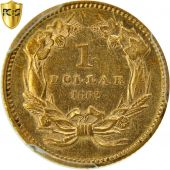 Monnaie, États-Unis, Indian Head - Type 3, Dollar, 1862, PCGS, AU 55, KM 86