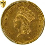 Monnaie, États-Unis, Indian Head - Type 3, Dollar, 1873, PCGS, AU58, KM 86