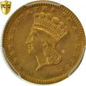 Monnaie, États-Unis, Indian Head - Type 3, Dollar, 1874, PCGS, AU58, KM 86