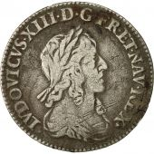 Coin, France, Louis XIII, 1/12 Écu, 2e poinçon de Warin, 1642, Paris, Gadoury 46