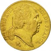 Coin, France, Louis XVIII, 20 Francs, 1820, Paris, EF(40-45), Gold, KM 712.1