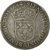 Coin, France, Louis XIV, 1/4 Ecu, 1644, Paris, VF(30-35), Silver, KM:P61