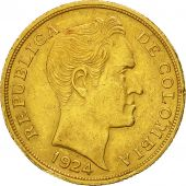 Coin, Colombia, 10 Pesos, 1924, Bogota, AU(50-53), Gold, KM:202