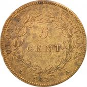 FRENCH COLONIES, Charles X, 5 Centimes, 1825, Paris, Bronze, KM:10.1