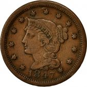 Monnaie, États-Unis, Braided Hair Cent, Cent, 1847, U.S. Mint, Philadelphie