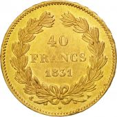 Monnaie, France, Louis-Philippe, 40 Francs, 1831, Paris, TTB+, Or, Gadoury:1106