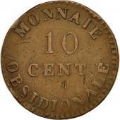 Coin, France, ANTWERP, 10 Centimes, 1814, Anvers, VF(20-25), Bronze