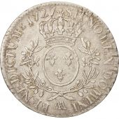 France, Louis XV, �cu aux branches dolivier, 1727 AA, Metz, Silver, KM:486.2