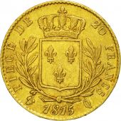Coin, France, Louis XVIII, 20 Francs, 1815, Perpignan, AU(50-53), KM 706.5