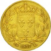 Coin, France, Louis XVIII, 20 Francs, 1817, Bayonne, EF(40-45), KM 712.5