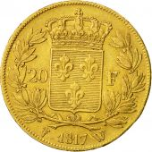 Coin, France, Louis XVIII, 20 Francs, 1817, Lille, EF(40-45), Gold, KM 712.9