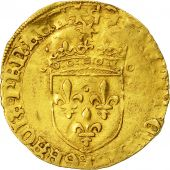 Coin, France, François Ier, Ecu dor, Bayonne, 5th type, VF(30-35), Gold,Dy775
