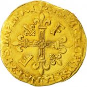 Coin, France, François Ier, Ecu dor, Toulouse, 5th type, EF(40-45), Gold,Dy775