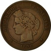 Coin, France, Cérès, 10 Centimes, 1896, Paris, Torche, VF(20-25), Bronze