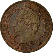 Coin, France, Napoleon III, Centime, 1854, Lyons, EF(40-45), KM 775.4
