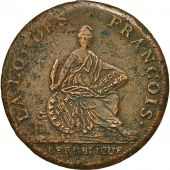 Monnaie, France, Convention, 2 Sols, 1794, Essai Bernier, TTB, Bronze