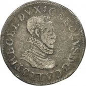 Coin, France, LORRAINE, Charles III, Teston, 1581, Nancy, EF(40-45), Silver