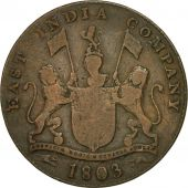 Monnaie, INDIA-BRITISH, MADRAS PRESIDENCY, 20 Cash, 1803, Soho Mint, Birmingham