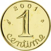 Coin, France, Épi, Centime, 2001, Paris, MS(65-70), Gold, KM:928a, Gadoury:91a