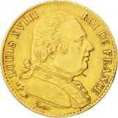 France, Louis XVIII, 20 Francs, 1815, Lille, Gold, KM:706.6